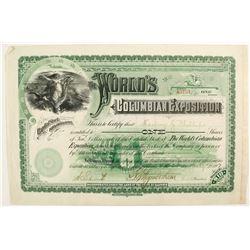 The World's Columbian Exposition stock  #82734