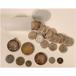 French and French Indo-China Silver Coinage  #110614