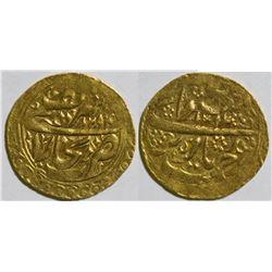 Manghits (Emirates of Bukhara) Gold Tilla Coin  #110611