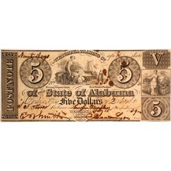 $5 Wetumpka Trading Company Note  #59562