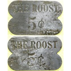 The Roost Brothel 5-cent Token  #101831