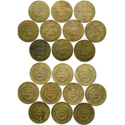 Daniel Sully Brothel Tokens (10)  #101855