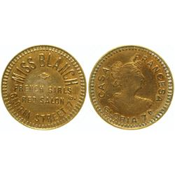 Miss Blanch Brothel Token  #104139