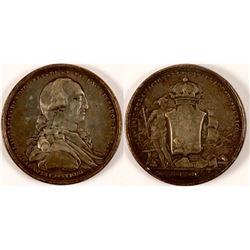 1789 Carlos IV Silver Proclamation Medal  #110969