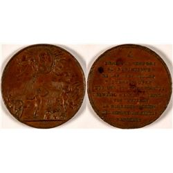1810 Battle of Las Cruces Copper Medal  #110965