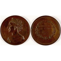 1875 Alelaida Ristori Enthusiasm for Genius Medal  #110962