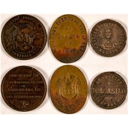 1880s Mexico Commemorative Medals (3)  #110979