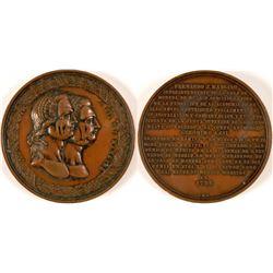 1881 Mexico City Academy of San Carlos Centennial Medal  #110960