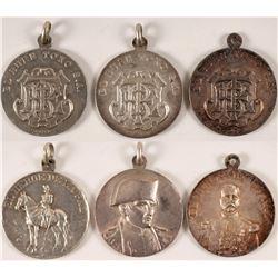 1890s El Buen Tono Tobacco Company Silver Medals (3)  #110980