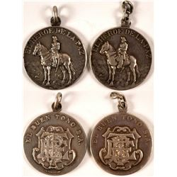 1897 El Buen Tono Tobacco Company Silver Medals (2)  #110982