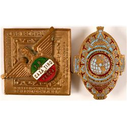 Mexico Institutional Lapel Badges (2)  #110985
