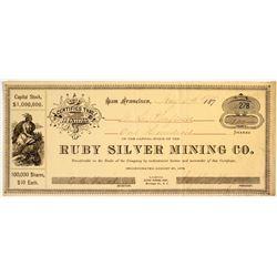 Ruby Silver Mining Company Stock  #81641