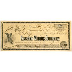 Crocker Mining Company Stock  #81645