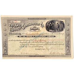 Ajo Mining & Development Co. Stock Certificate  #100893