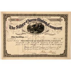 Silver Queen Mining Company Stock Certificate  #107747