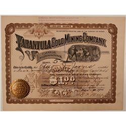 Tarantula Gold Mining Company Stock Certificate  #107732