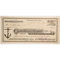 Anchor Consolidated Gold & Silver Mining Company Stock  #77011