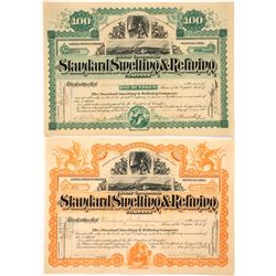 Two Different Standard Smelting & Refining Company Stock Certificates  #59484