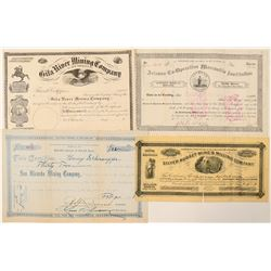 Three Arizona Stock Certificates: Mining & Mormon  #100907