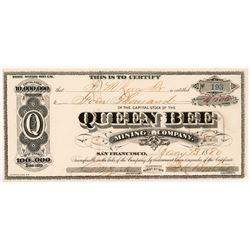 Queen Bee Mining Company Stock Certificate  #104374