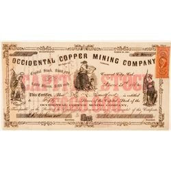 Occidental Copper Mining Company Stock Certificate  #101482