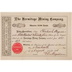 Hermitage Mining Company Stock Certificate  #100762