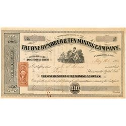 The One Hundred & Ten Mining Co. Stock Certificate  #100854