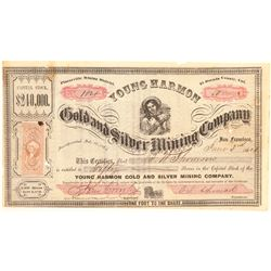 Young Harmon Gold & Silver Mining Co. Stock Certificate  #100853