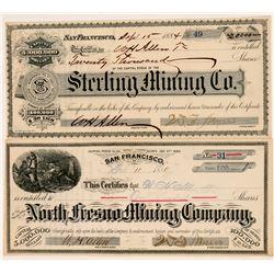 Fresno Mining Stocks (2)  #108186