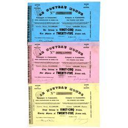 Le Nouveau Monde Stock Certificate Trio--California Gold Rush  #100886