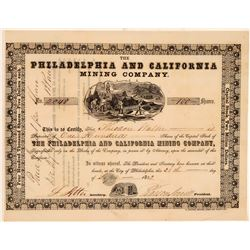 Philadelphia and California Mining Stock  #105584