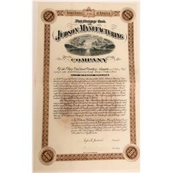 Judson Mfg. Company Bond, Dynamite Maker Signed by Judson  #110045
