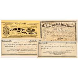 Placer County Mining Stock Certificates  #104415