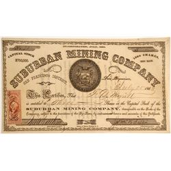 Suburban Mining Company Stock, San Francisco Mining District  #79701