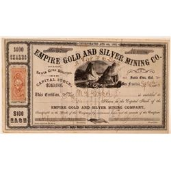 Empire Gold & Silver Mining Co. Stock Certificate  #107720