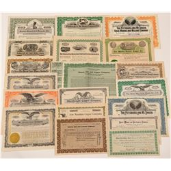 Shasta & Red Bluff Mining Stock Certificate Collection  #107253