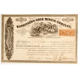 Washington Gold Mining Company Stock  #80477