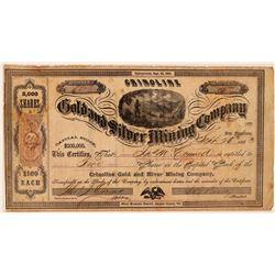 Crinoline Gold & Silver Mining Company Stock Certificate  #107710