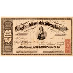 Lady Franklin Gold & Silver Mining Co. Stock Certificate  #107717