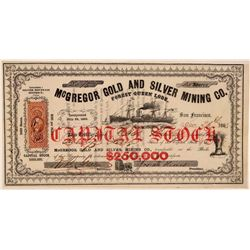 McGregor Gold & Silver Mining Company Stock Certificate  #107724