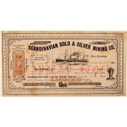 Scandinavian Gold & Silver Mining Co. Stock Certificate  #107725
