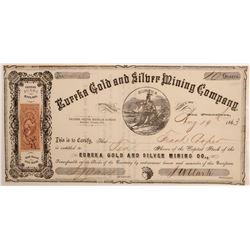Eureka Gold & Silver Mining Company Stock  #106536