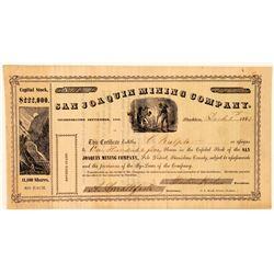 San Joaquin Mining Company Stock Certificate  #101506