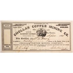Chollar Copper Mining Company Stock  #77039