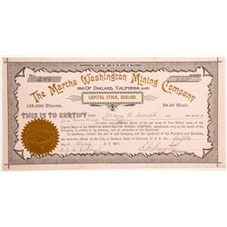 Martha Washington Mining Company Stock - A RARE Women Speculator Mine  #90448