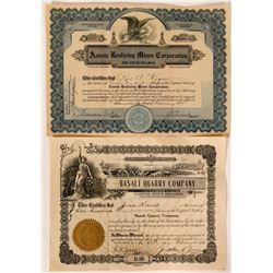 Rare Southern Calif Mining Stocks (2)  #104914
