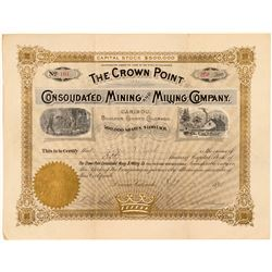 Crown Point Cons. Mining & Milling Co. Stock Certificate  #91627