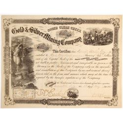 South Clear Creek Gold & Silver Mining Company Stock  #79739