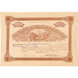 Cripple Creek Bullion Gold Mining Co. Stock Certificate  #91634