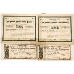 Colorado Mining Certificates (4)  #58904